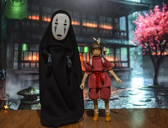 Spirited Away Chihiro and Kaonashi ( No Face ) custom action figure (Ashirvad123) Tags: spiritedaway actionfigures toys chihiro ghibli studioghibli custom action figure