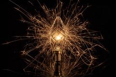 WunderKerze (Andreas van Eikeren) Tags: licht lampe glühbirne wunderkerze tabletop stilllife lowkey longexposure kreativ spiegelung lichtmalerei