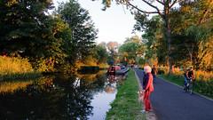 Union Canal (near Polworth Bridge) Edinburgh (Solas beag) Tags: unioncanal edinburgh fujifilmxt2 1855mm28rlm barge cyclist dog dogwalking polworth explore