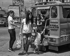 Alight Here (Beegee49) Tags: street family mother father children filipina public transport jeepney bacolod city philippines