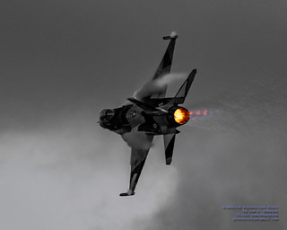 ALASKA F-16 VIPER VAPING AND BURNING AGAINST THE CLOUDS