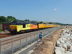 67027 & 67023 Penzance (8) (Marky7890) Tags: networkrail 67023 67027 class67 1q18 penzance railway cornwall cornishmainline train
