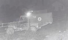 c. 1955 / 1956 - Vintage Snapshot Photo of a Jeep Ambulance at Military Camp Petawawa, Ontario - Petawawa, Ontario (Treasures from the Past) Tags: petawawa camppetawawa jeep jeepambulance ambulance 1955 1956 vintage ontario canada military firstaid