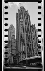 Hybrids.jpg (Milosh Kosanovich) Tags: perforations 7minutes hasselbladzeiss50mmf4cfi intercontinentalhotel hasselblad500cm hasselblada24magazine mickchgo tmaxrsdeveloper chicagophotographicart kodakdoublex5222 miloshkosanovich chicagophotographicartscom chicago chicagophotoart tribunetower michiganavenue 35mmin120camera ctabus
