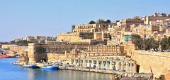 Valletta and part of Grand Harbour, Malta (M McBey) Tags: valletta malta shore shoreline grandharbour city mediterranean