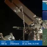 ISS LIVESTREAM Timelapse X32 25sec hd720p30 - Mouvement bras & rotation panneaux solaires - YouTube thumbnail