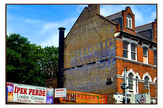 SAVE MONEY, GILLETTE GHOST SIGN IN TOTTENHAM.