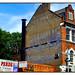 SAVE MONEY, GILLETTE GHOST SIGN IN TOTTENHAM. (StockCarPete) Tags: ghostsign gillette londonlettering oldsign paintedsign paintedwall savemoney tottenham london uk oldbritishsign blueyellow