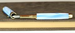 Pearl Sky Blue Fountain Pen - Titanium Nib (BenjaminCookDesigns) Tags: fountainpen custom bespoke engraved personalised classic vintage artdeco style gift birthday christmas fpgeeks fpn giftforhim giftforher füllfederhalter