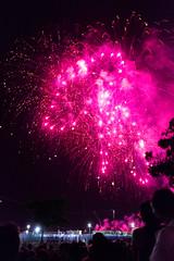 Fireworks (faster3ck) Tags: dusk moon night sunset light beam twilight blast evening moonlight glow stick dramatic sky palermo italy sicilia sicily italia people travel traveling visiting fireworks fuochidartificio pink violet santa rosalia festino santarosalia capitale cultura