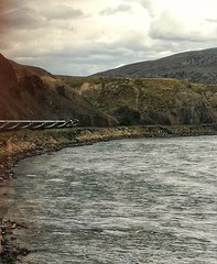 The Rocky mountaineer heading towards Kamloops from Vancouver. (nigethorpe) Tags: colourphoto color colour cameraphone mobilephoto mobile phonecamera cellphone canada rockymountaineer huaweip9lite huawei snapseed