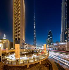 Burj Khalifa and Dubai Mall lighttrails (Siebring Photo Art) Tags: burjkhalifa dubai dubaimall dubaiskyline emirates uae lighttrails skyline sunset verenigdearabischeemiraten ae