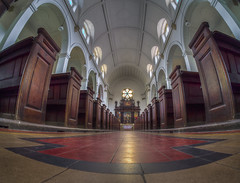 spiritual divided in world of crisis (Wizard CG) Tags: avon united kingdom england english gb great britain british bristol city of redcliffe st thomas martyr lane church chapel worship religion christ christian chrisinaity grade ii listed building olympus epl7 hdr heritage world trekker ngc road architecture fisheye arch ceiling