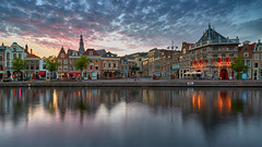 ...of... (zsnajorrah) Tags: urban urbanphotography city river water reflection church buildings evening sky sunset aftersunset colourful clouds longexposure neutraldensityfilter nd breakthroughphotography x4nd3 tiffen gradnd manfrotto redged canon 7dmarkii efs1018mm netherlands haarlem spaarne grotekerk waag triptych