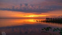 Sunset over Lake Washington (Michael Seeley) Tags: canon florida lakewashington lovefl melbourne michaelseeley mikeseeley sunset