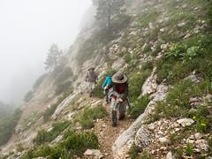 it was steep (RubyT (I come here for cameraderie!)) Tags: olympusomde10ii m1250 wyoming steamboatrock bighornnationalforest highway14 hiking fog cloud