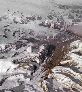 Morrenas centrales y supraglaciales - Scoresby Sund (Groenlandia) - 01