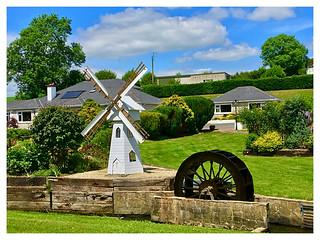 Waterwheel, walls and windmill