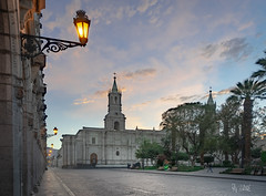 2018 Arequipa morning (jeho75) Tags: sony ilce 7m2 zeiss hdr peru south america morning morgen dämmerung dawn arequipa plaza de armas kathedrale cathedral
