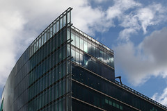 Transparency (Elios.k) Tags: horizontal outdoors nopeople building glasswork glasswerk architecture design modernbuilding façade glass panel light sunlight reflection sky clouds cloudy bluesky weather colour color travel travelling october2017 canon 5dmkii photography berlin germany deutschland europe
