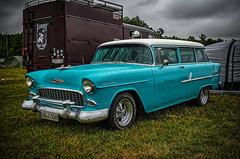 CHEVROLET 1955 HANDYMAN (Peter's HDR-Studio) Tags: petershdrstudio hdr classiccar car chevrolet 1955handyman oldtimer klassiker auto blau blue green grün gras