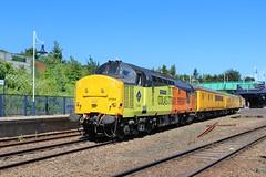 COLAS Rail 37254 - Mansfield Woodhouse (the mother '66' 66001) Tags: col colas class37 37254 37175 mansfield mansfieldwoodhouse robinhoodline nottinghamshire rail railways doncaster derby derbyrtc networkrail