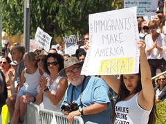 Protesters attend L.A.'s Families Belong Together March (lukeharold) Tags: families belong together gavin newsom kamala harris
