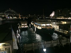 Ferries at Circular Quay (Simon_sees) Tags: manlyferry publictransit publictransportation publictransport transport night sydneyharbour circularquay wharf boat ferry sydneyferries