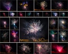 Fireworks Collage '18 (R24KBerg Photos) Tags: fireworks july4 4thofjuly independenceday 2018 graingerstadium milb baseball ballpark celebration slowshutter canon sports carolinaleague downeastwoodducks kinstonnc kinston america usa closeup