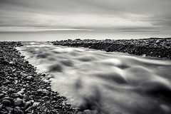 cut straight to the end (Port View) Tags: fujixe3 donnellansbrook novascotia canada 2018 spring stream water fundy fundyshore bayoffundy rocks moving movement longexposure le landscape blackandwhite bw monochrome mono tide tidal shore coast coastal flow flowing