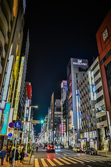 Ginza at Night - Tokyo Japan (mbell1975) Tags: minatoku tōkyōto japan jp ginza night tokyo asia lights city scapes shopping buildings shops