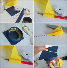 Graduation Gifts : How to make a graduation hat jar hip2save (giftsmaps.com) Tags: gifts