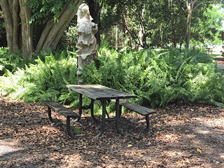 An Shady Place to Sit in the Ringling Museum Gardens