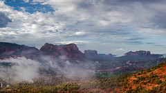 Vortex View of Verde Valley (johnny4eyes1) Tags: landscape redrocks valleys rocky mountains clouds redrockcountry bellrock wild sedona verdevalley cloudporn mist courthouserock twinbuttes geology fog desert travel environment arizona nationalgeographic