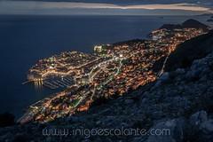 Dubrovnik city in Croatia Night view (Iñigo Escalante) Tags: 2018 dubrovnik city croacia croatia europa europe night sunset atardecer noche photography travel viaje