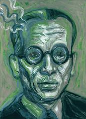 Kurt Gödel (Geoffrey Katrencik) Tags: kurtgödelmathematics mathematician philosophy logician logic incompletenesstheorem jeffreykatrencik nancyondulick portrait portraiture painting