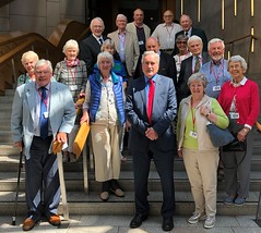 With visitors from North Berwick Regal group