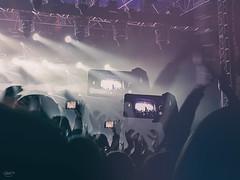 living life through a lens... (CatMacBride) Tags: concert mobile phone lights hands