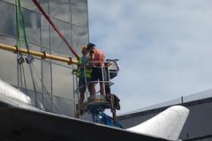 DSC01115 (The Unofficial Photographer (CFB)) Tags: alanjulian chris hunter aviation restoration woking deardiaryjuly2018 2018 alanallen aln julian brooklands history hiviz