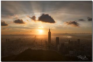 Taipei 101 Spotlight, Taipei, Taiwan
