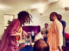 Sripad BV Siddhanti Maharaj and Pran Kishor das (Janardan das) Tags: london happiness love joy spirituality harekrsna harekrishna bhaktiyoga yoga bhakti sripadbvsiddhantimaharaj