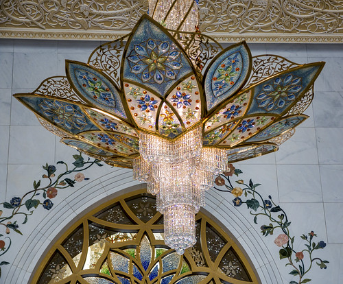 Chandelier in foyer, Sheikh Zayed Mosque, Abu Dhabi