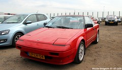 Toyota MR2 1.6 Twin Cam 1986 (XBXG) Tags: lplh04 toyota mr2 16 twin cam 1986 toyotamr2 red rood rouge british race festival 2018 circuit zandvoort nederland holland netherlands paysbas youngtimer old classic japanese car auto automobile voiture ancienne japonaise japon japan asiatique asian vehicle outdoor coupé coupe