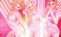 Just dance spacegirl (:-parfaitsprinkles-:) Tags: amitomo semotion kuni senseevent summer space girl sl slife secondlife kurimukuma bear curly neon party lights kotte