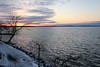 Sunset from James Madison Park (2/3) (danielhast) Tags: madison lake sunset water cloud sky mendota tree snow lakemendota
