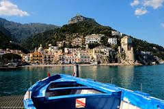 Amalfi Coast - Cetara (angelocesta) Tags: amalficoast costieraamalfitana costiera amalfitana cetara mare porto barca italia blu vacation fujifilm borgo love