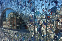 reflections (lucymagoo_images) Tags: sony rx100 baltimore maryland architecture museum glass reflected mosaic art window