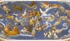 Le plafond de la salle de la Mappemonde (Palais Farnese, Caprarola, Italie) (dalbera) Tags: cartes dalbera escalier caprarola italie palaisfarnese vignola peinturesmurales maniérisme zodiaque