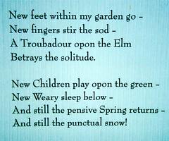Spring Poem (Stanley Zimny (Thank You for 31 Million views)) Tags: poem words bronx botanical garden spring seasons