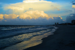 Tides At Dawn (Andy Zito) Tags: tides dawn gulf shores alabama sunrise beach ocean waves coming glistenting water thick clouds lit up by sunlight surreal scene